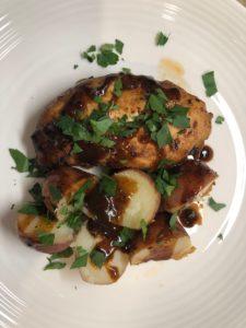 Vinegar chicken w/glaze